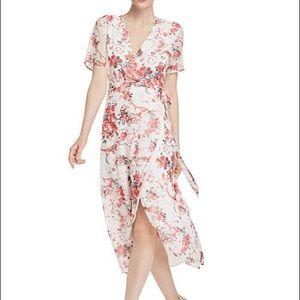 Bardot Floral Print Midi Wrap Dress